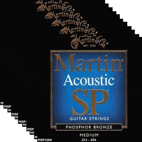 12セット Martin MSP4200 Phosphor Bronze Medium Acoustic Guitar Strings 13-56