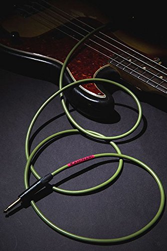 お金を節約 Kaminari Electric Bass Cable クリアランスsale 期間限定 K-BC5SS 5m -UGUISU- 鶯 SS