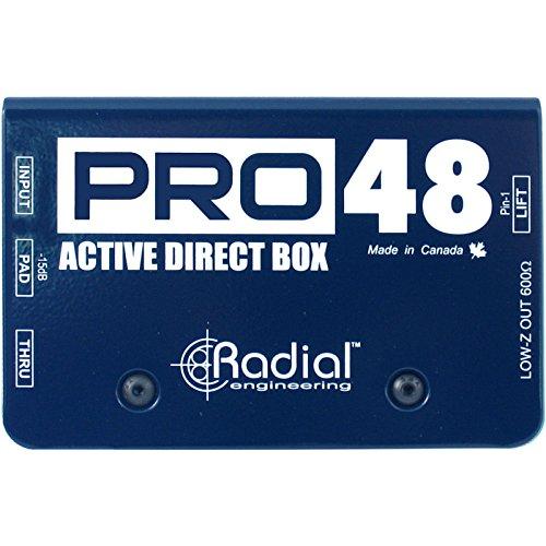 ◆RADIAL PRO48 Direct BOX アクティブ楽器用 ファントム電源駆動 ラディアル DI