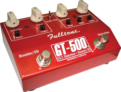 Fulltone フルトーン GT500 赤 (F.E.T.Distortion + Booster/OD)