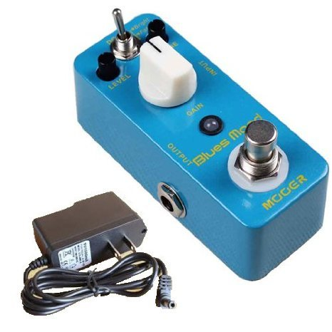 Mooer (ムーア) Blues Mood Blues Drive Guitar ペダル Compact ペダル + US DC9V 1500MA Adaptor