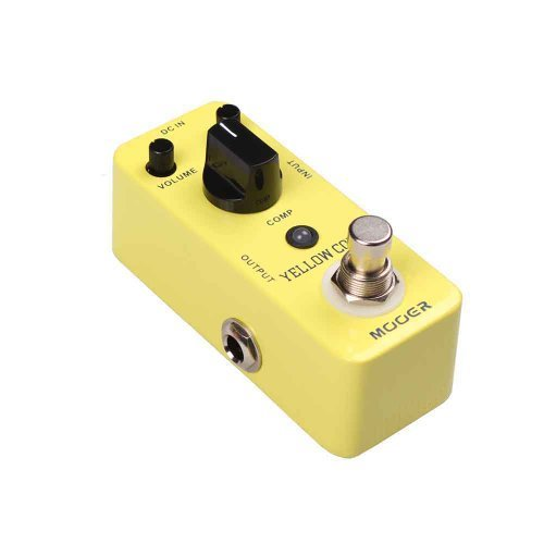 Mooer (ムーア) ペダル-Yellow Comp True Bypass-Guitar Compress ペダル+ 2 ストラップ Locks-679#