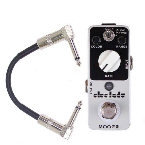 Mooer (ムーア) Elec Lady Analog Flanger ギターエフェクトペダル w/Patch Cable