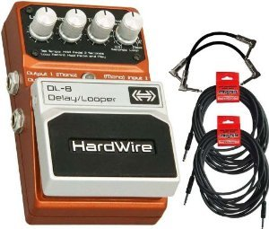 Hardwire DL-8 Delay/Looper Pedal with 4 Free Cables