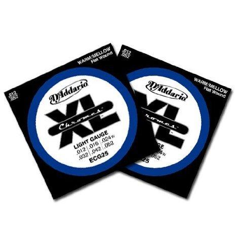 D'Addario (ダダリオ) Chromes Flatwound エレキギター 弦 ECG25 12-52 2 パック
