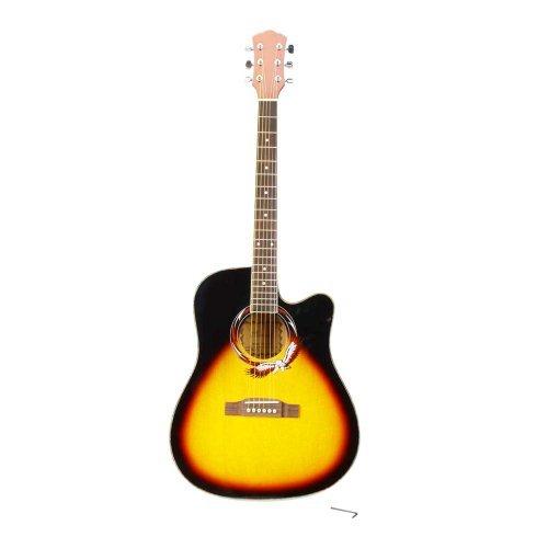 Beginner 41 インチ Wood Folk Cutaway アコースティックギター With Wrench Sunset Color クラシックギ