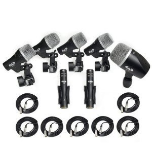 CAD Stage7 Drum Mics with 7 25 Foot XLR Cables