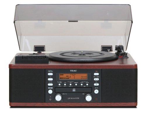 TEAC ティアック CDレコーダー ターンテーブル&カセットプレイヤー付き LP-R550USB-WA(ウォルナット)