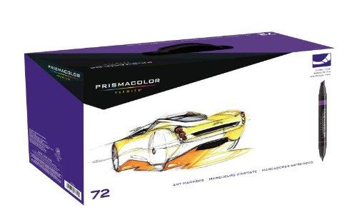 Sanford ( サンフォード ) PRISMACOLOR Premier Chisel Fine Double Ended ART MAKERS 72色 マーカー