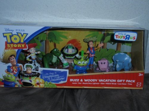Disney / Pixar Toy Story Exclusive Hawaiian Vacation Mini Figure 7Pack Buzz Woody Vacation Gift Pa