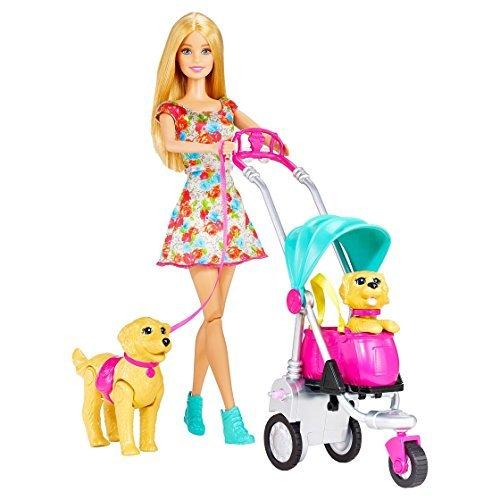 バービー Barbie Strollin' Pups Playset ドール 人形 フィギュア