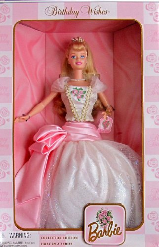 BIRTHDAY WISHES BARBIE DOLL 1st in Series COLLECTOR Edition (1998) by Barbie Birthday Fun Kelly Gi