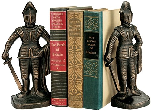 Design Toscano Medieval Knight Iron Bookends