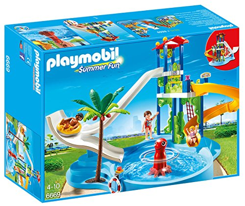 PLAYMOBIL (プレイモービル) 6669 Water park with giant slides