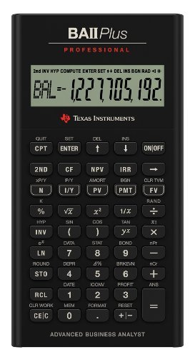 TI BA II Plus Pro Calculator