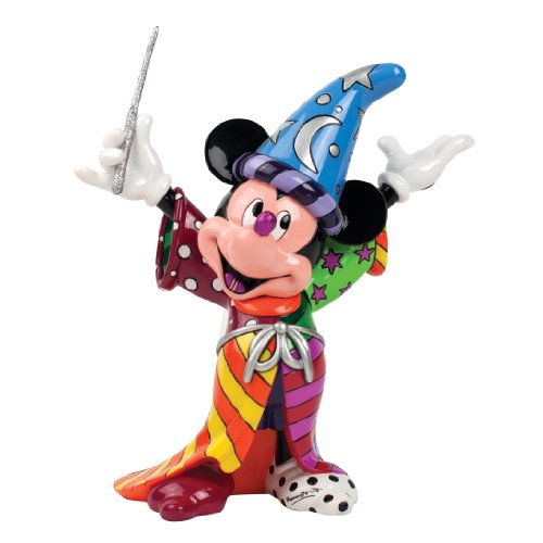 Enesco Disney by Britto Sorcerer Mickey by Britto Figurine, 8.875-Inch/ロメロブリット/ディズニー/
