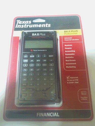 Texas Instruments BA II Plus Professional Financial Calculator/ブラック[]