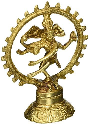 シヴァNatarajaヒンドゥー神宗教ギフト真鍮彫刻の5.75インチダンシング