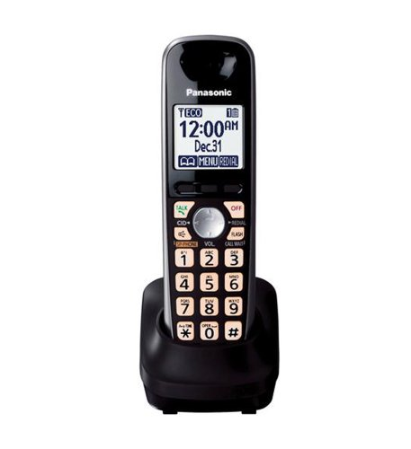 Panasonic KX-TGA401B Extra Handset for KX-TG4000 Series Cordless Phone Black