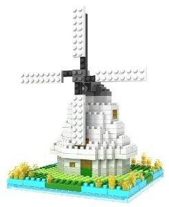 Micro Blocks, Windmill Model, Small Building Block Set, Nanoblock (ナノブロック) Compatible, Not L