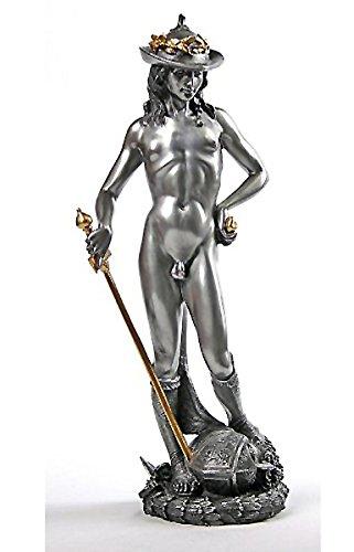 ルネサンス期 ドナテッロ作 ダビデ 彫像/ David by Donatello Statue Bonded Pewter Renaissance Statue