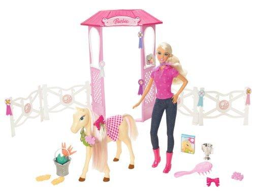 BARBIE Groom & Glam Doll & Stable by Barbie