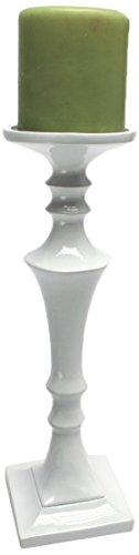 Design Toscano Goga 12-Inch Hand-Crafted Candleholder, Large, White