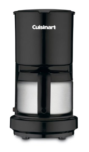 Cuisinart DCC-450BK 4-Cup Cuisinart Coffeemaker with DCC-450BK Stainless-Steel Carafe, Black Black, こだわりのアメカジ通販ラグタイム:d1a9807e --- gamenavi.club