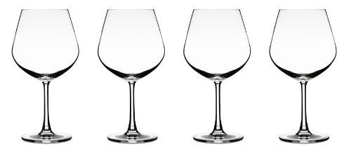 Cuisinart Elite Vivere Collection Burgundy Glasses, Set of 4