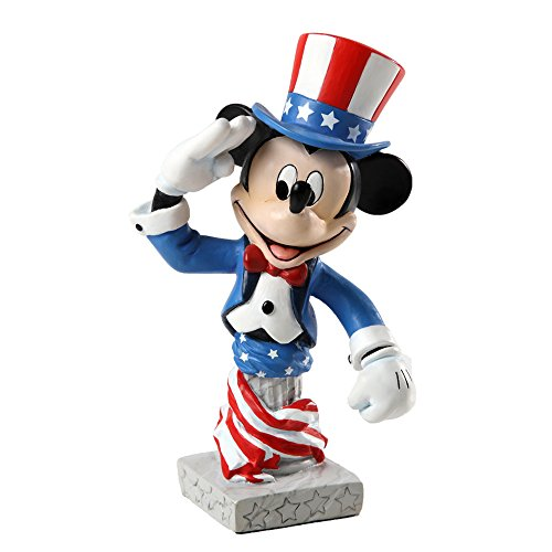 Enesco Grand Jester Studios Patriotic Mickey Figurine, 5-Inch