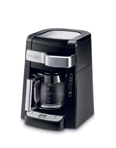 DCF2212T Glass Carafe Drip Coffee Maker コーヒーメーカー(12カップ) DeLonghi社 Black