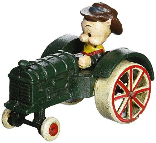 Design Toscano Farmer Pig Replica Cast Iron Farm Toy Tractor, Multicolored