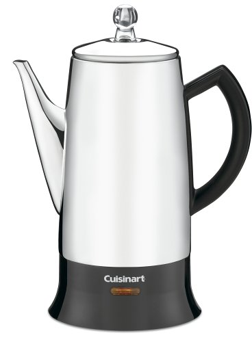 Cuisinart PRC-12 Classic 12-Cup Stainless-Steel Percolator, Black/Stainless コーヒー濾し器