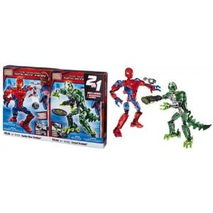 Mega Bloks (メガブロック) the Amazing Spider-man Set Spider-man Techbot & Lizard Techbot 91247 ブ