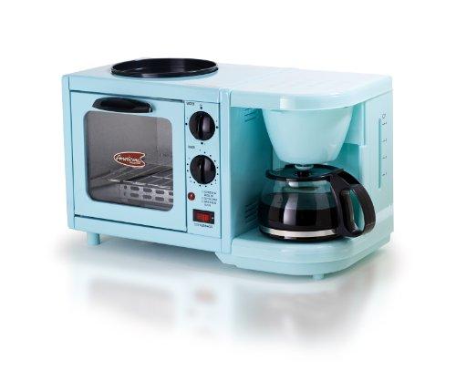 多機能★ブレックファースト デラックス トースターオーブン/グリドル/紅茶メーカー Maximatic社 Blu