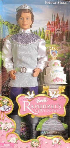Barbie RAPUNZEL'S WEDDING PRINCE STEFAN DOLL w Wedding CAKE & More (2005) by Prince Stefan Barbie
