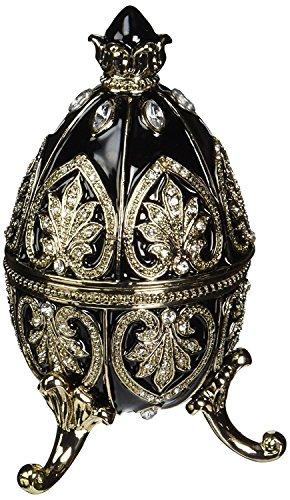 Design Toscano Alexander Palace Faberge-Style Nevsky Enameled Egg in Rich Ebony