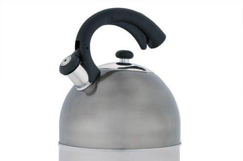 Creative Home Aero Metallic 2.5 Quart Whistling Tea Kettle, Smoke
