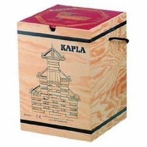 積木・カプラ カプラ280(白木)+デザインブック(中級・赤)>木箱入り
