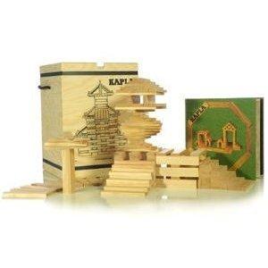 積木・カプラ カプラ280(白木)+デザインブック(中級・緑)>木箱入り