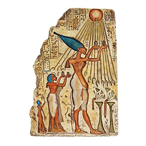 Design Toscano Pharaoh Akhenaten Offering to Aten the Sun Wall Sculpture