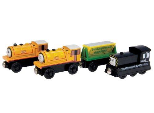 ラーニングカーブ きかんしゃトーマス 木製レールシリーズ ビル、ベン、メイビス と 鉱石運搬貨車