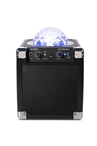 ライトショー内蔵★パーティ ポータブル サウンドシステム ION Audio社 Black