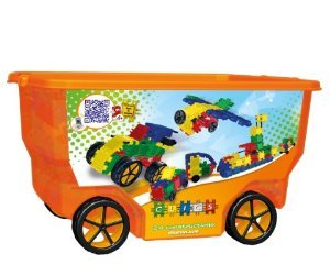 CLICS TOYS Rollerbox Toy, 400-Piece ブロック おもちゃ