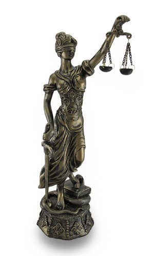Antique Bronze Finish Lady Justice Themis Justicia Law Statue 18 in. by Things2Die4