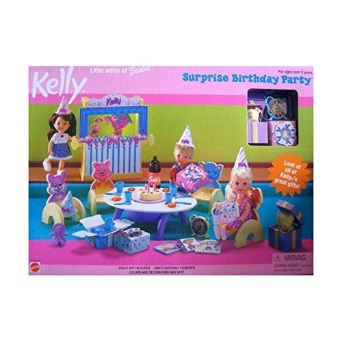 Kelly Little Sister of Barbie Doll Surprise Birthday Party Playset by Barbie
