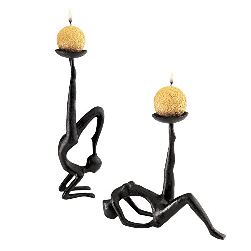 Design Toscano Les Acrobates Sculptural Candleholders (Set of 2)