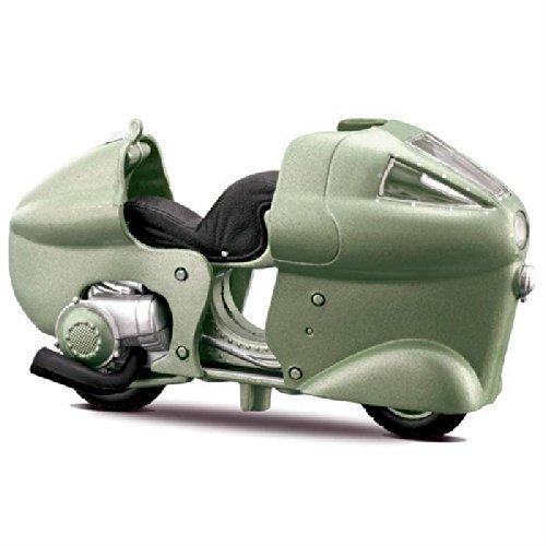 1950 Vespa Monthlery (Green) * Vespa Motorscooter 1:18 Scale Series * Maisto Die-Cast Metal & Plas