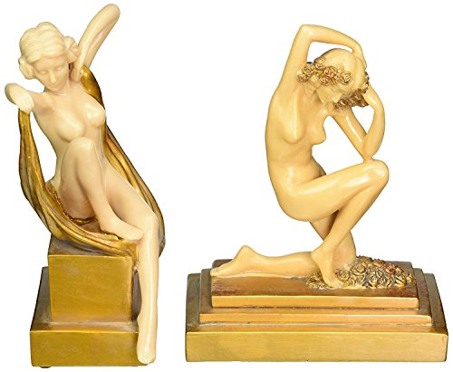 Design Toscano Palace du Trocadero Art Deco Sculptures Set of: Kneeling and Sitting