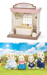 Calico Critters Bakery Shop and Oinks Pig Family ドール 人形 フィギュア